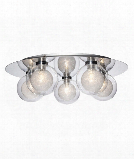 "Cambria 16"" 5 Light Flush Mount In Chrome"