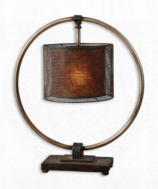 Dalou 1 Light Accent Lamp In Dark Bronze