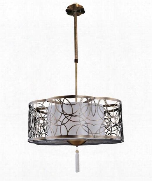 Dorrit 6 Light Large Pendant In Antique Brass