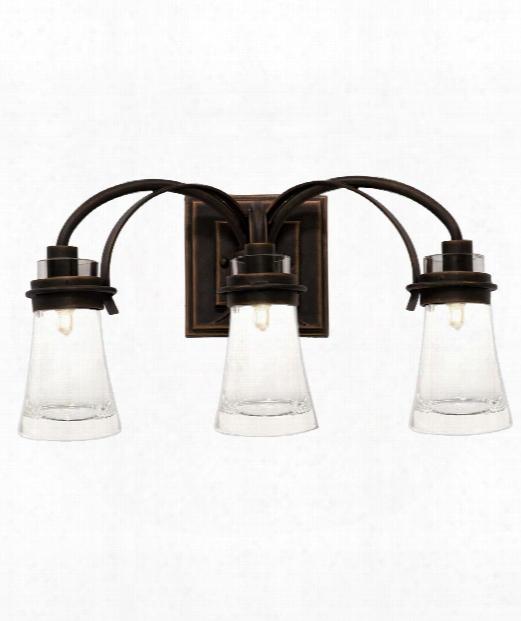 "Dover 20"" 3 Light Bath Vanity Light In Antique Copper"