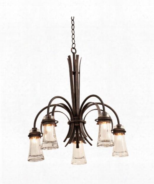 Dover 5 Light Chandelier In Antique Copper