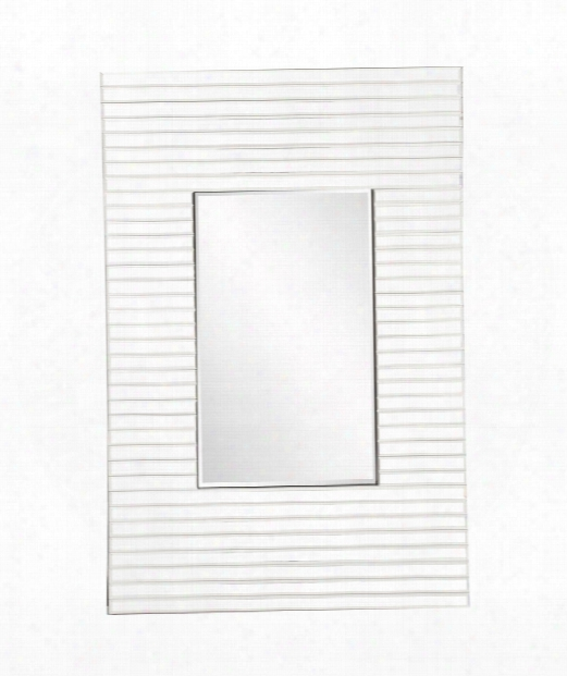 "Edge 21"" Wall Mirror In White"