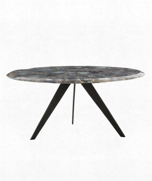 "Essex 36"" Coffee Table In Natural Iron-blue"