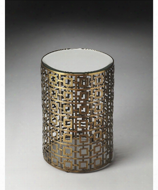 """Franklin 15"""" Accent Table In Metalworks"""