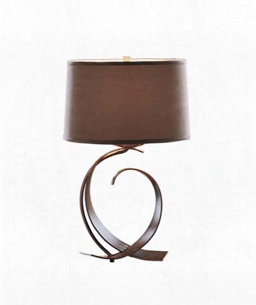 "Fullered Impressions 14"" 1 Light Table Lamp In Vintage Platinum"