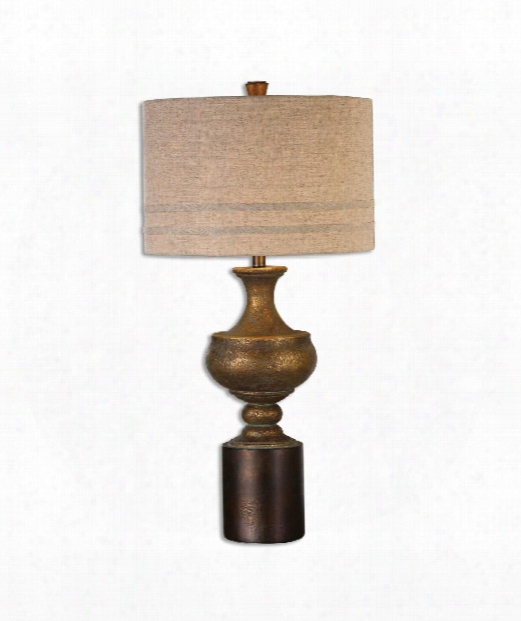 """Giuliano 17"""" 1 Light Table Lamp In Antique Gold"""