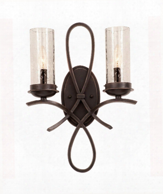 "Grayson 17"" 2 Light Bath Vanity Light In Heirloom Bronze"