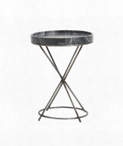 """Grimes 15"""" Accent Table In Antique Zinc"""