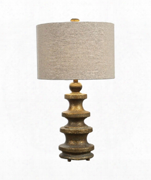 """Guadalete 16"""" 1 Light Table Lamp In Heavily Antiqued Gold"""