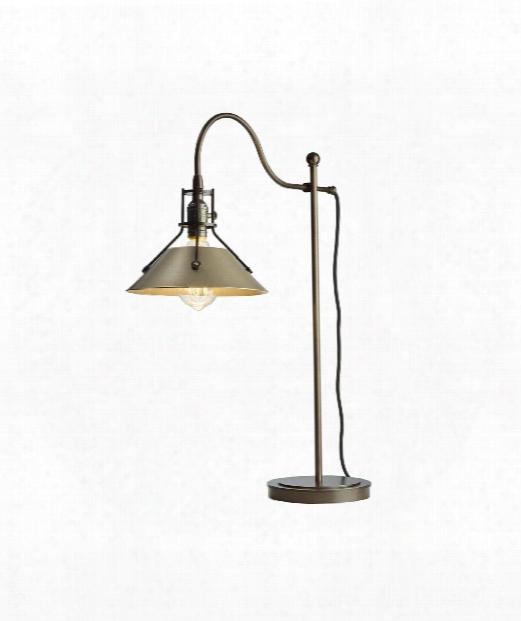 "Henry 9"" 1 Light Desk Lamp In Mahogany"