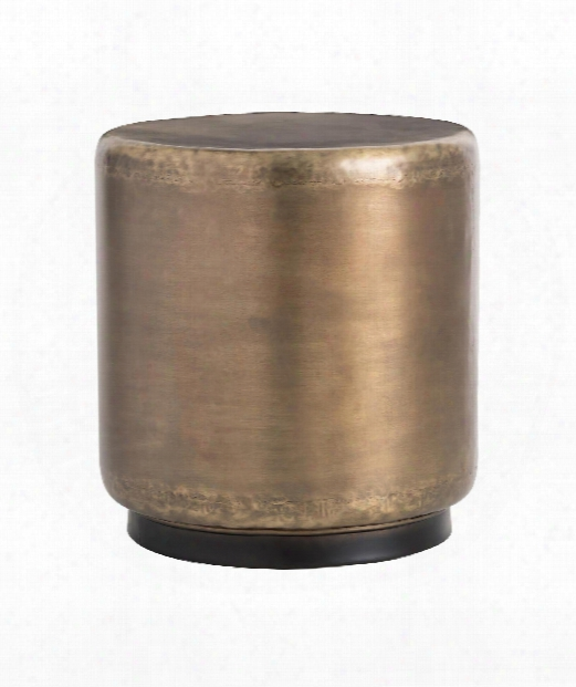 """Hightower 20"""" Accent Table In Antique Brass"""