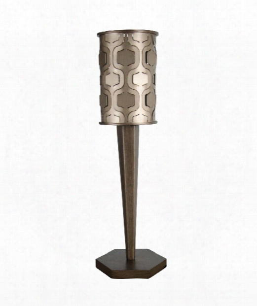"Ivonic 8"" 1 Light Accent Lamp In Champagne Mist"
