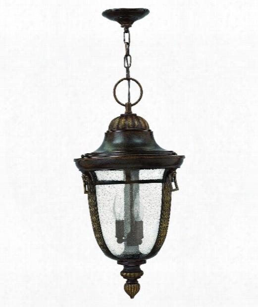 "Key West 12"" 1 Light Outdoor Hanging Lantern In Regency Bronze"