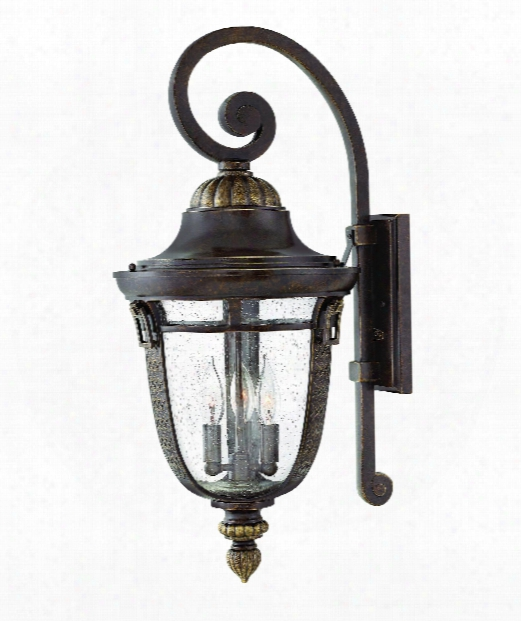 "Key West 12"" 3 Light Outdoor Outdoor Wall Light In Regency Bronze"