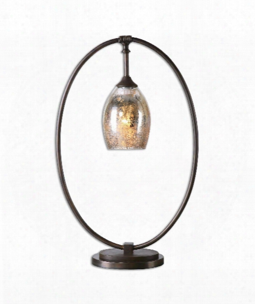 "Lemeta 5"" 1 Light Table Lamp In Oxidized Bronze"