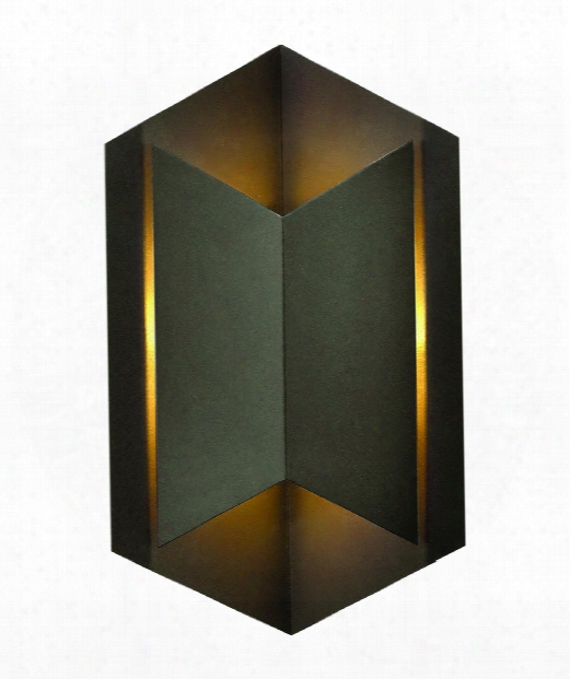 "Lex 9"" Led 1 Light Outdoor Outdoor Wall Light In Bronze"