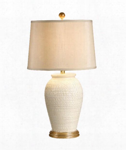 Lucia 1 Light Table Lamp In Cream Hand Thrown Tuscan