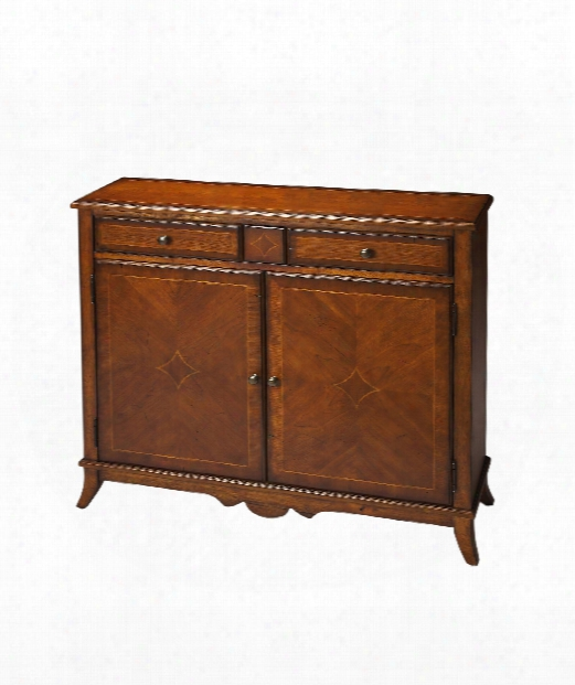 "Masterpiece 3g"" Console Cabinet In Antique Cherry"