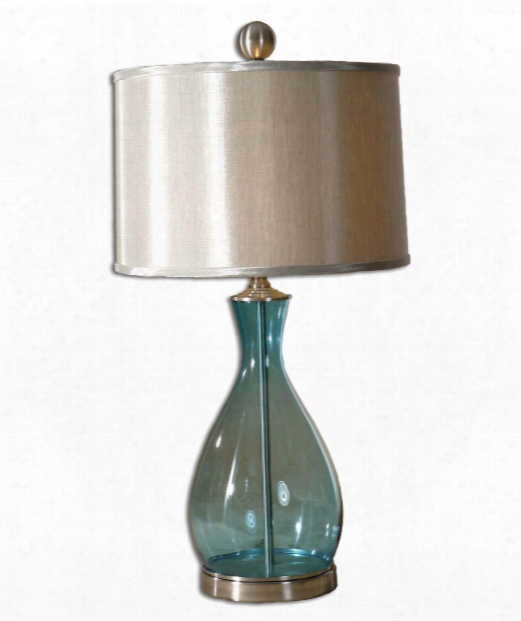 Mena 1 Light Table Lamp In Satin Nickel