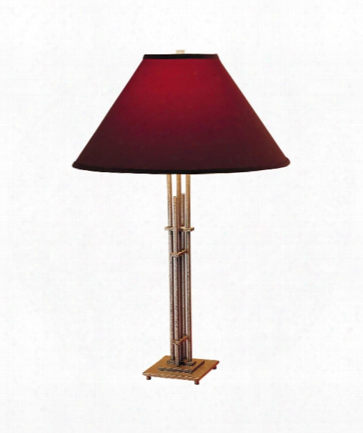 Metra Quad 1 Light Table Lamp In Vintage Platinum
