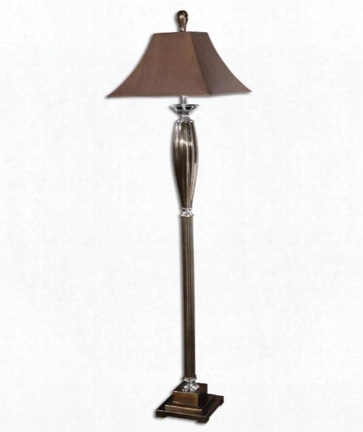 Omari 1 Light Floor Lamp In Metallic Bronze