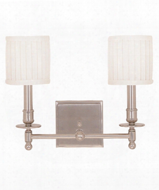 "Palmer 14"" 2 Light Bath Vanity Light In Satin Nickel"