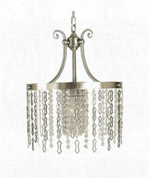 "Penelope 15"" 1 Light Large Pendant In Brushed Nickel"