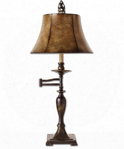 Romina 1 Light Table Lamp In Oxidized Brass