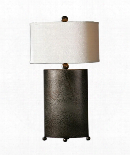 "Ruggine 116"" 1 Light Table Lamp In Mottled Rust Silver"