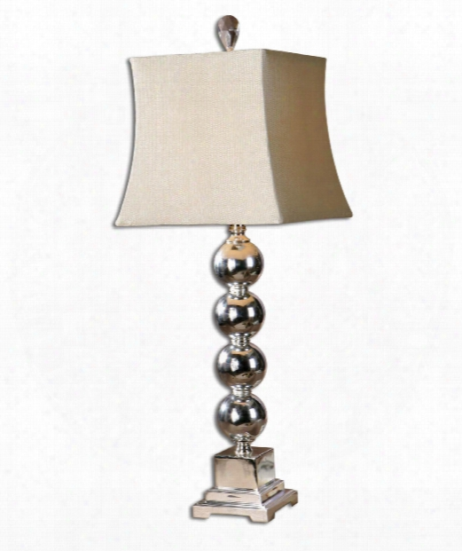 Sachie 1 Light Table Lamp In Silver Plated