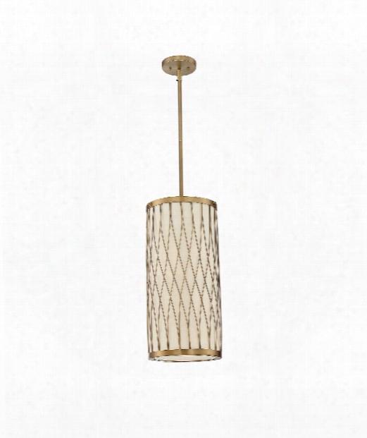 "Spinn 10"" 2 Light Mini Pendant In Warm Brass"