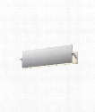 "Aileron 12"" LED 1 Light Bath Vanity Light in Bright Satin Aluminum"