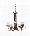 Bexley 6 Light Chandelier in Vintage Iron