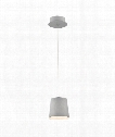 "Borto 6"" LED 1 Light Mini Pendant in Grey Aluminium"