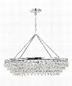 "Calypso 40"" 8 Light Chandelier in Polished Chrome"