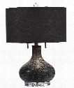 "Canelo 15"" 2 Light Table Lamp in Crystal Foot"