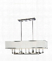 """Collins 38"""" 10 Light Island Light in Polished Nickel"""