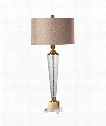 "Credera 17"" 1 Light Table Lamp in Plated Brushed Brass"