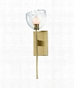 "Davis 6"" LED 1 Light Wall Sconce in Aged Brass"