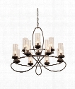Grayson 12 Light Chandelier in Heirloom Bronze