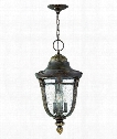 "Key West 12"" 3 Light Outdoor Hanging Lantern in Regency Bronze"