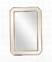"Leopold 24"" Wall Mirror in Mirrored-Gold Leaf"