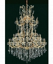 "Maria Theresa 54"" 61 Light Chandelier in Golden Teak"