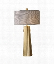"Maris 17"" 2 Light Table Lamp in Plated Antiqued Brass"