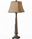 "Rittana 13"" 1 Light Table Lamp in Heavily Distressed Burnt Beige"