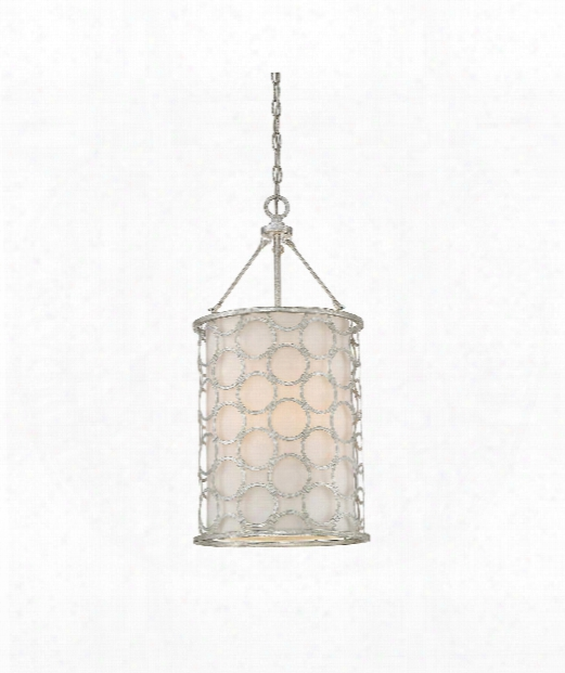 "Trion 13"" 3 Light Mini Pendant In Silver Leaf"