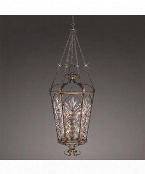 """Winter Palace 26"""" 10 Light Foyer Pendant In Silver Leaf"""