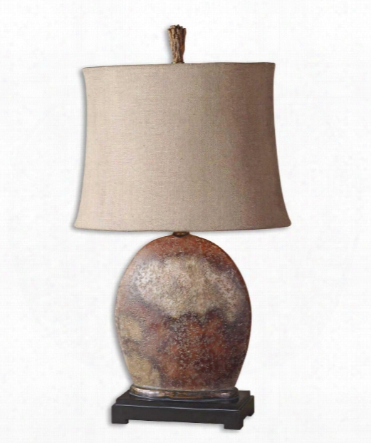 Yunu 1 Light Table Lamp In Rusty Brown