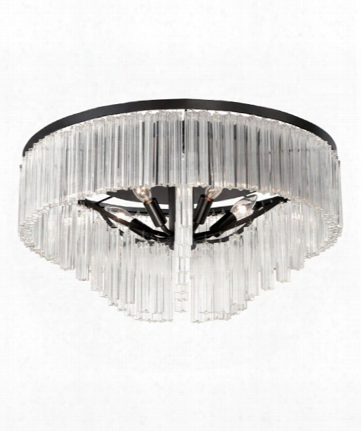 "Ziccardi 24"" 5 Light Semi Flush Mount In Oil Rubbed Bronze"