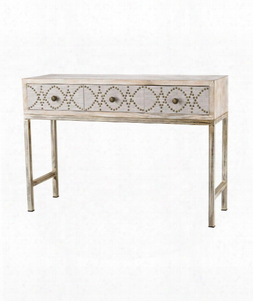 "Albiera 47"" Console Table In Natural Linen And Driftwood Grey"